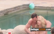 Horny swingers are playing and having oral sex between them.