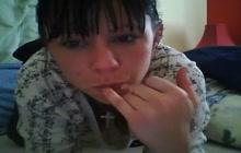 Tattooed webcam babe masturbating