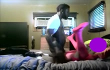 Cheating wife caught with black guy on webcam