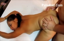 Filipina babe gets a creampie