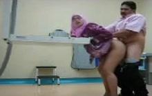 Arab couple doggy style fucking