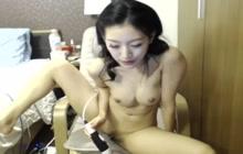 Thai girl masturbating on webcam